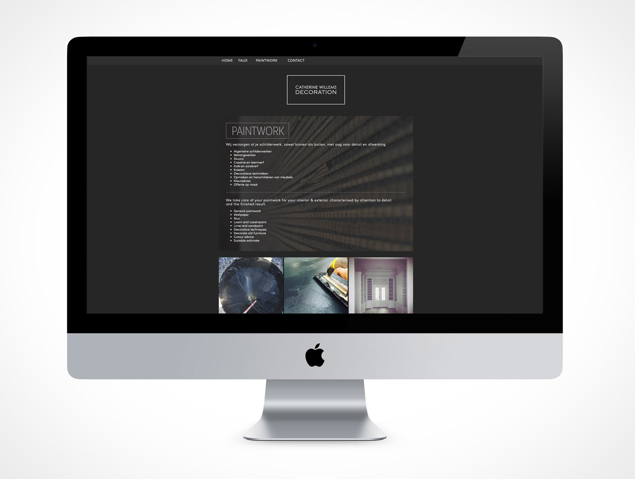 Website ontwerp catherine willems