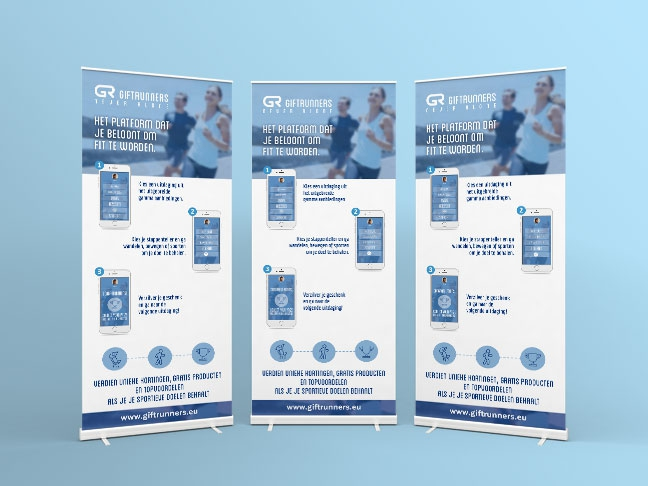Ontwerp Roll-up banner Giftrunners